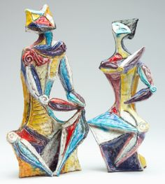 Examples of two Marcello Fantoni Sculptures.