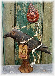 The Country Cupboard Skeleton Jack Primitive Folk Art Pattern