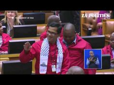EFF member swearing in parliment(saying fokol is nex)- part 1