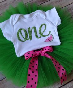 Summertime First Birthday Outfit/Watermelon Birthday by BespokedCo