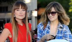loooove the cut on the right. (olivia wilde) i like the length and the color!