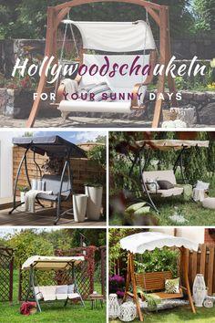 Was ist besser als ein sonniger Tag in Ihrem Garten und Sie auf Ihrer Gartenschaukel? Wahrscheinlich brauchst du dazu ein kaltes Getränk! Sunny Days, Rest, Table Decorations, Furniture, Home Decor, Be Creative, Modern Outdoor Furniture, Cold Drinks, Swings