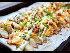 Loaded Potato Wedges - These wedges are potato perfection! Baked until crispy and topped with cheddar, bacon, chives, and an avocado sour cream sauce. These just might be potato perfection! Loaded Potato, Loaded Baked Potatoes, Sour Cream, Ice Cream, Appetizer Recipes, Appetizers, Dinner Recipes, Wedges Recipe, Potato Wedges Baked