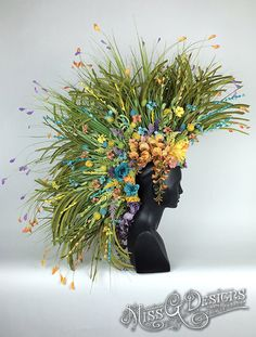MOHAWK GRASS & FLOWERS by MissGDesignsShop on Etsy
