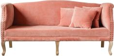 Creative Co-op Pink Cotton Velvet Sofa from Elizabeth's Embellishments