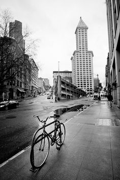 smith tower and the weird parking garage (which is apparently on the former site of a swanky hotel?)