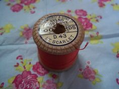 Dewhurst's Sylko Cotton on Wooden Reel by SewsAttic on Etsy, £2.69