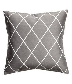 Jakardikudottu tyynynpäällinen | Harmaa | Koti | H&M FI