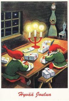 Norwegian Christmas, Christmas Tale, Old Christmas, Christmas Scenes, Merry Christmas And Happy New Year, Vintage Christmas Cards, Scandinavian Christmas, Vintage Holiday, Christmas Deco