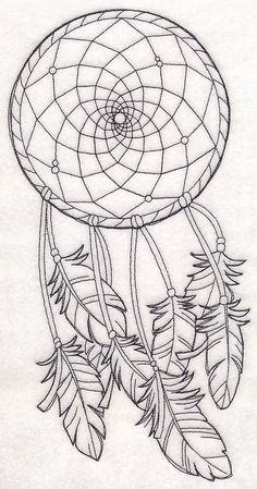 Machine Embroidery Designs at Embroidery Library! - New This Week Dream Catcher Sketch, Dream Catcher Vector, Dream Catcher Tattoo Design, Dream Catcher Coloring Pages, Heart Coloring Pages, Music Drawings, Cute Drawings, Embroidery Art, Machine Embroidery Designs
