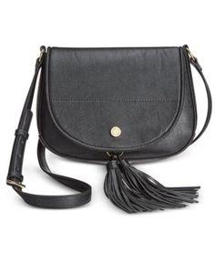 Calvin Klein Tassel Detail Saddle Bag In Black Fall Bags, Purse Styles, Online Bags, Handbag Accessories, Saddle Bags, Tassel, Calvin Klein, Satchel, Handbags