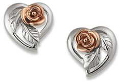 04e37c913 Clogau Gold Silver & Rose Gold Royal Roses Earrings: Amazon.co.uk: Jewellery