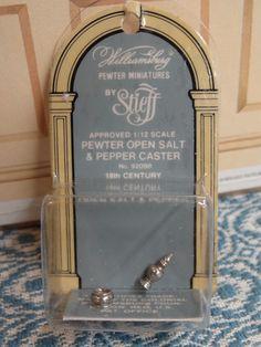 Stieff Williamsburg Approved Miniature Pewter OPEN SALT & PEPPER CASTER #92089 #Stieff X Z
