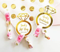 Personalized Hair Tie Favors | Bridal Shower Favors | Bachelorette Party Favors