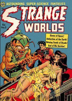 Comic Book Cover For Strange Worlds Issue #5 Avon Comics