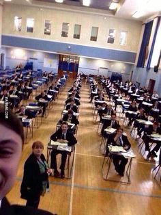 This kid is banned from taking public exams for 5 years because of this selfie.