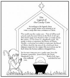 The Legend of the Candy Cane FREE Printable Sunday school