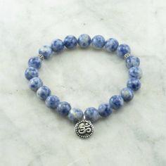 Vipassana Mala Bracelet | 21 lapis mala beads, Buddhist bracelet