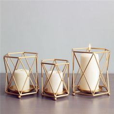 Geometric Candle Holders – Free From Label
