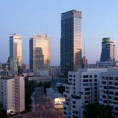 Skyline in Warsaw - Intercontinental Hotel, Rondo One by SOM, Cosmopolitan, TPSA Tower | Poland © Piotr Krajewski pkrajewski.pl