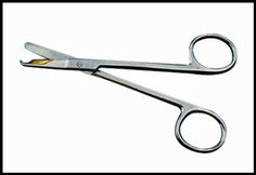 """F619 , Stitch Suture Scissors 4.5'' ,  233-B , 682017407562, Great for stitching, crafts, sutures. They are from the medical use and great in many ways, also handy in taxidery work. They sell well in many places: craft shops, department stores, dealer shows, hobby and fabric stores, sporting goods outlets, medical supply houses-hobby grade.   • Length: 3-1/2"""" • Stainless Steel • Chrome Finish  • Packing: Plastic Pouch"""