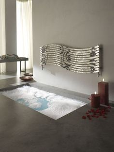 Modern radiators that give your interior a great effect - Decoration Solutions Diy Design, Interior Design, Interior Modern, Decorative Radiators, Horizontal Designer Radiators, Electric Radiators, Fireplace Heater, Style Deco, Bathroom Inspiration