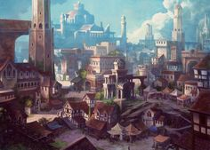 ArtStation - Neverwinter Market, Chris Dien