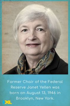 Economist Janet Yellen made history in 2014 by becoming the first woman to chair the Federal Reserve. #TBT Ixl Math, Janet Yellen, Learning Sites, Lady Godiva, Throwback Thursday, Change The World, Social Studies, Language Arts, Fun Facts