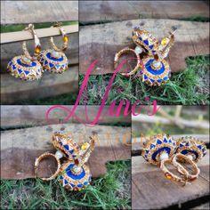 #jhumkay #gotakinari #handmade by  https://www.facebook.com/Ninos-creations-123853704344831/timeline/