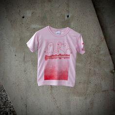 T-shirt Enfant Fille Monstres au village par MoustacheMoutarde