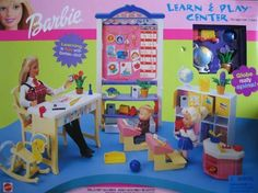 5260c782aca0a Barbie Learn  amp  Play Center Playset (2000) by Mattel.  104.00. Playset