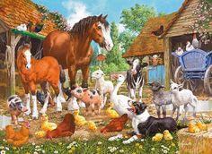 farm animals   gibsons farm jigsaw puzzle ref g6044 animal farm 1000pc cost £ 13…
