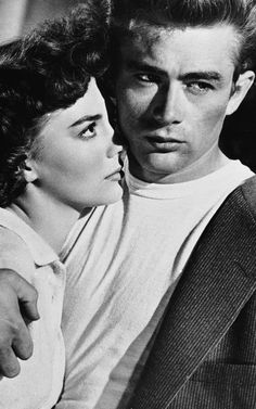James Dean, Natalie Wood in  Rebel Without a Cause (Nicholas Ray, 1955) (she looks incredibly uncomfortable)