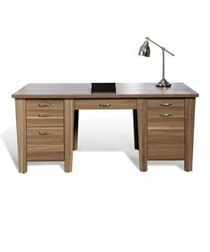 Take a look at this Walnut Modern 71'' Office Desk by Jesper Office on #zulily today!