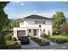 Innovation R - Haus R140_1_V35 - #Einfamilienhaus von RENSCH-HAUS GMBH | HausXXL #Stadtvilla #modern #Walmdach