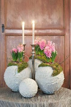 Easy Crafts Ideas at Home Here are some of the most beautiful DIY projects you can try for your self at home If you enjoyed this DIY room dec. Diy Crafts To Sell, Home Crafts, Cement Art, Deco Floral, Easter Crafts, Flower Pots, Paper Flowers, Diy Wedding, Floral Arrangements