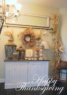 Like this old window frame and candle holders