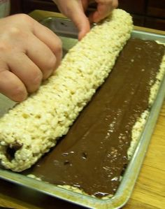 Rice Krispy Rollups | They are great.. Ive eaten half the loaf by myself and see myself making this at least...