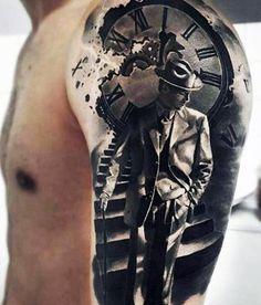 Men's 3D Star Tattoo