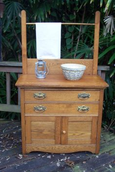 Turn any antique commode or dry sink into a bathroom sink! Find ...