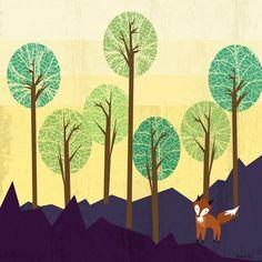 Arbora art print by Kakel on Society6