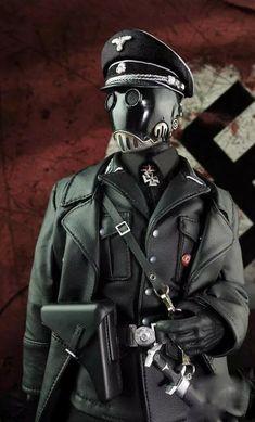 Hellboy Kroenen, Wolfenstein, Batman The Dark Knight, Cyberpunk Art, Futuristic Architecture, En Stock, Sound Waves, Dieselpunk, Steampunk Fashion