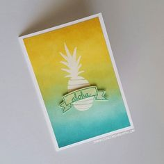 Aloha! Pop Art Pineapple stamp set and dies from Concord & 9th #concordand9th