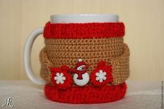62 Ideas For Crochet Decoracion Tazas Crochet Heart Blanket, Crochet Cup Cozy, Cozy Cover, Crochet Flower Tutorial, Mug Cozy, Diy For Girls, Little Gifts, Crochet For Beginners, Mugs