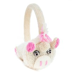 knit ADULT cute Gray sock Monkey deLux earmuffs Hat /& Mittens sold separate