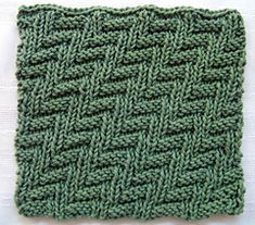 Rib & Welt Dishcloth pattern ($1) on Ravelry
