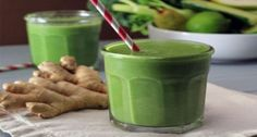 Ginger Smoothie A Detox Drink For The Whole Body Smoothie Recipes With Yogurt, Protein Smoothie Recipes, Breakfast Smoothie Recipes, Detox Smoothies, Detox Drinks, Fun Drinks, Healthy Bars, Healthy Snacks, Vanilla Greek Yogurt