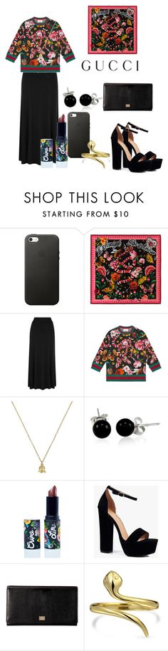 """Presenting the Gucci Garden Exclusive Collection: Contest Entry"" by stayslayin ❤ liked on Polyvore featuring Gucci, Bling Jewelry, Lime Crime, Boohoo, Dolce&Gabbana and gucci"