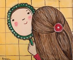 Cute Illustration, Caricature, Art Lessons, Art For Kids, Art Drawings, Character Design, Portrait, Hair Styles, Pretty
