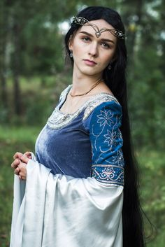 SALE: Blue and silver elven dress by elvenstore on Etsy